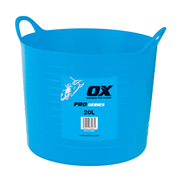 OX Tools P110620 Ox Pro Heavy Duty Flexi Tub (20 Litre/4.4 Gallon) (10 Pack)