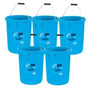 OX Tools P110825 Ox Pro Plasters Bucket (5 Gallon/25 Litre) (5 Pack)