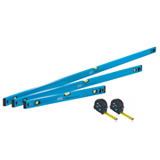 OX Tools OX-P500405 Trade 3 Piece Level Set 600mm, 1200mm & 1800mm with 5m/8m Tapes