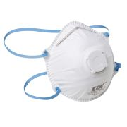 OX Tools OX-S240910 FFP2V Moulded Cup Valved Respirator - Pack of 10