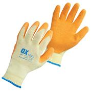 OX Tools OX-S2416PK10 OX Latex Grip Gloves - Pack of 10