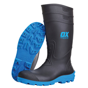 OX Tools S2424BKBL Safety Wellington Boots - Black/Blue