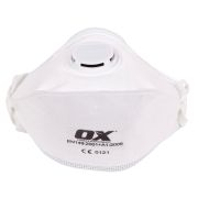 OX Tools OX-S246401 OX FFP2V Fold Flat Valve Respirator - Pack of 25