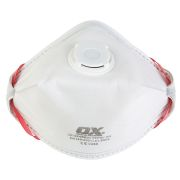 OX Tools OX-S246501 OX FFP3V Fold Flat Valve Respirator - Pack of 20