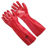 OX Tools OX-S246845 OX Red PVC Gauntlets - Size 10 (XL)