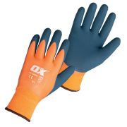 OX Tools OX-S483910 OX Waterproof Thermal Latex Glove - Size 10  X Large