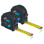 OX Tools T020605PK2 OX Trade Tape Measure Twinpack 5m/16ft