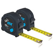 OX Tools T020608PK2 OX Trade Tape Measure Twinpack 8m/26ft