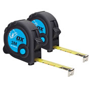 OX Tools T029103PK2 OX Trade Tape Measure Twinpack 3m Metric