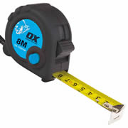 OX Tools T029108 Trade Tape Measure 8m Metric