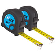 OX Tools T029108PK2 Trade Tape Measure 8m Metric - Pack of 2