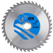 OX Tools CTW2503040 250mm 40T Wood Cutting Circular Saw Blade