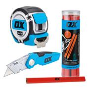 OX Tools HANDYSET Tape, Knife & Pencil Set