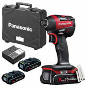 Panasonic EY75A7PN3G31R Panasonic18v Brushless Impact Driver 3 x 3.0Ah Batteries
