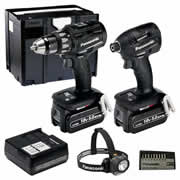Panasonic EYC 215 LJT Panasonic 18v Brushless 5.0Ah Drill Driver and Impact Driver 2 Piece Kit