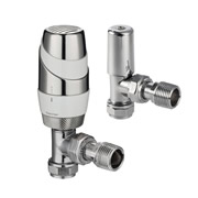 Pegler 632334 Pegler TERRIER Decor 15mm Angle TRV & LS (White/Chrome)