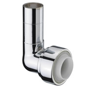 Pegler 7P1010 Pegler Terrier 15mm x 10mm Push Fit Elbow (Chrome Plated)