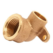 "Pegler 901827 Pegler Mercia15mm x 1/2"" Backplate Elbow - Pack of 10"