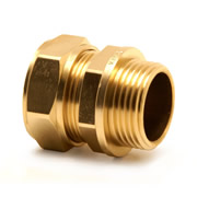 "Pegler 901897 Pegler Mercia 22mm x 3/4"" Male Coupling - Pack of 10"