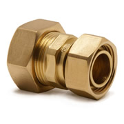 "Pegler 901931 Pegler Mercia 22mm x 3/4"" Straight Tap Connector - Pack of 10"