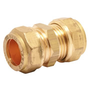 Pegler 903012 Pegler Mercia 15mm Straight Coupling Copper Compression Fitting