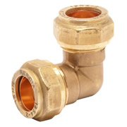 Pegler 903064 Pegler Mercia 22mm Elbow Copper Compression Fitting