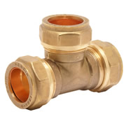 Pegler 903087 Pegler Mercia 22mm Equal Tee Compression Fitting