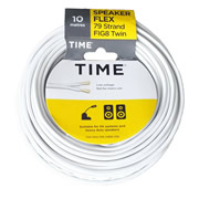 Pitacs IT759332 TIME 79 Strand Figure 8 Twin Speaker Wire 0.2mm² White 10m