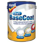 Polycell  Polycell 3 in 1 White Matt Basecoat 5 Litre