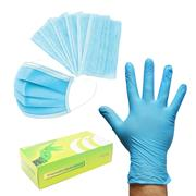 ITS  Pack of 50 Disposable 3 ply Masks and 100 Disposable Gloves