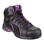 Puma STEPPERMID Stepper Mid Safety Boot - Black/Purple