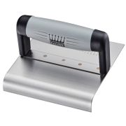 Ragni R65160S 6'' x 6'' Stainless Steel Curved Outside Step Trowel