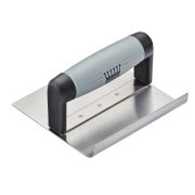 Ragni R65161S 6'' x 6'' Stainless Steel Curved Inside Step Trowel