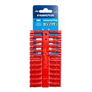 Rawlplug 68520 Rawlplug UNO Plastic Plugs Red - Pack of 96