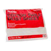 Prodec Prodec 12' X 12' Cotton Twill Dust Sheet