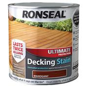 Ronseal  Ronseal Ultimate Protection Decking Stain 5L Mahogany