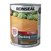 Ronseal  Ronseal Ultimate Protection Decking Stain 5L Medium Oak