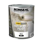 Ronseal AMPWM750 Ronseal 6 Year Anti Mould Paint White Matt 750ml
