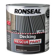 Ronseal  Ronseal Decking Rescue Paint English Oak 2.5 Litre