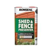 Ronseal  Ronseal Shed & Fence Preserver Light Brown 5 Litre