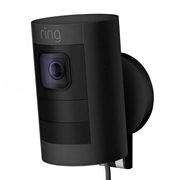 Ring SUCBLACKW Ring Stick Up Cam Wired HD Security Camera - Black