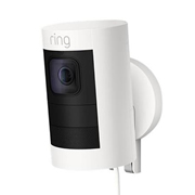 Ring SUCWHITEW Stick Up Cam Wired HD Security Camera - White
