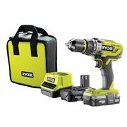 Ryobi R18PD31-213S 18v ONE+ Combi Drill with 2 x 1.3Ah Batteries, Charger and Case