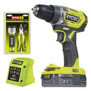 Ryobi R18PD5-120G 18v ONE+ Brushless Combi Drill with 1 x 2Ah Battery and Charger