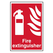 Scan 1350 Fire Extinguisher PVC Sign - 200mm x 300mm