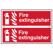 Scan 1351 Scan Double Fire Extinguisher PVC Sign - 300mm x 200mm
