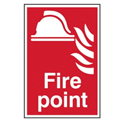 Scan 1451 Scan Fire Point PVC Sign - 200mm x 300mm