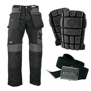 Scruffs T5193-DBKKIT Scruffs 3D Trade Work Trousers with Holster Pockets Kit - Black