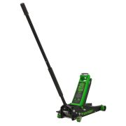 Sealey 3040AG Trolley Jack 3 Tonne Rocket Lift - Green