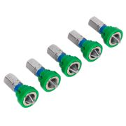 Sealey AK210521 S2 25mm PZ2 Screwdriver Bits with Magnetic Holder  - Pack of 5